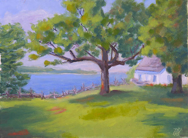 Oak Harbor Painting - Robert G Wehle State Park Compound by Robert P Hedden