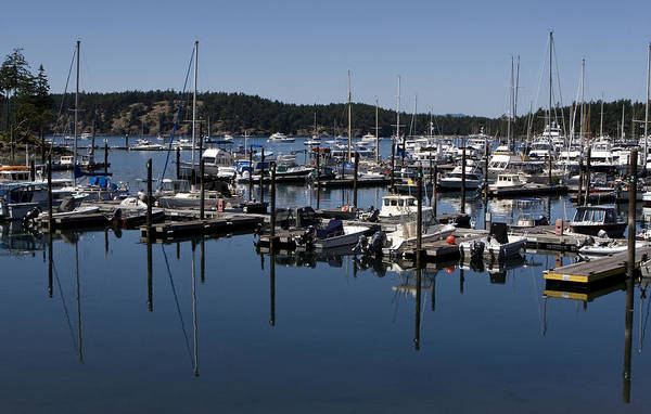 Photograph - Roche Harbor Reflected by Lorraine Devon Wilke