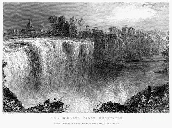Photograph - Rochester: Genesee Falls by Granger