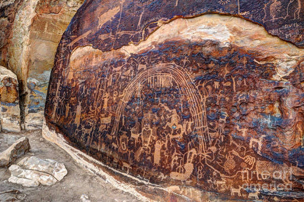 Petroglyph Photograph - Rochester Petroglyph Rock Art Panel - Utah by Gary Whitton