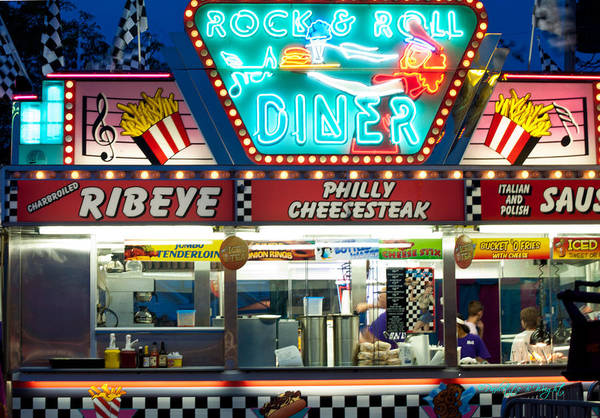 Photograph - Rock And Roll Diner by Paulette B Wright
