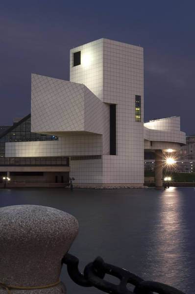 Photograph - Rock And Roll Hall Of Fame At Dusk by At Lands End Photography