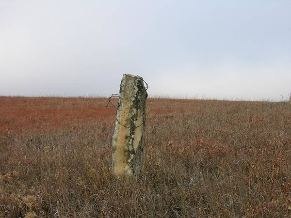 Photograph - Rock Fence Post by Keith Stokes