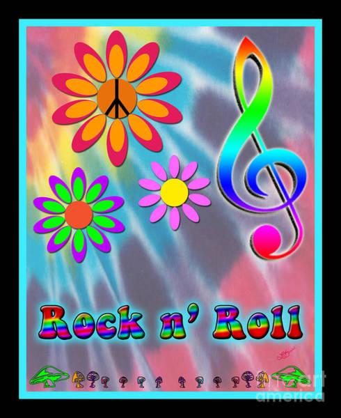 Jazz Trio Digital Art - Rock Music Poster by Linda Seacord