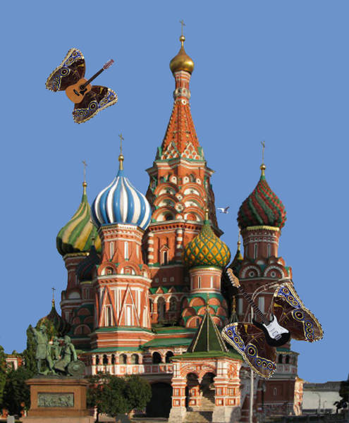 Digital Art - Rock On Moscow by Eric Kempson