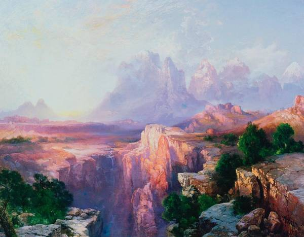 Zion Painting - Rock Towers Of The Rio Virgin by Thomas Moran