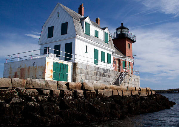 Photograph - Rockland Breakwater Lighthouse by Frank Pietlock