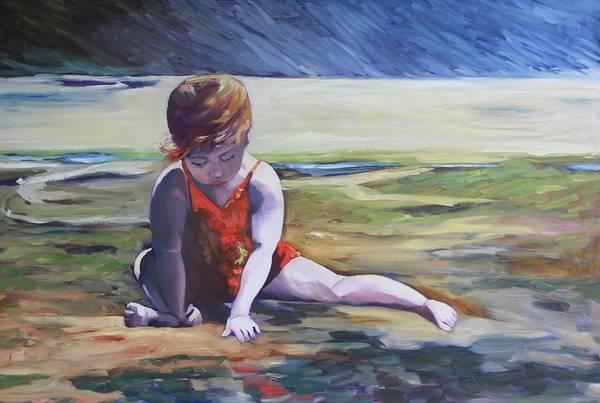 Painting - Rockpool by Kathy  Karas