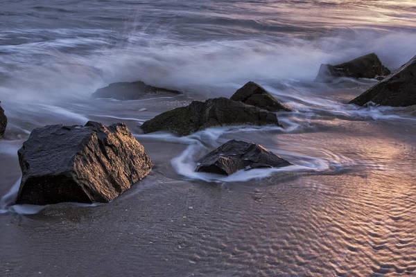 Photograph - Rocks At Sunset by Tom Singleton
