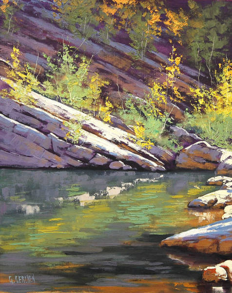 Reflections Painting - Rocky Bank by Graham Gercken