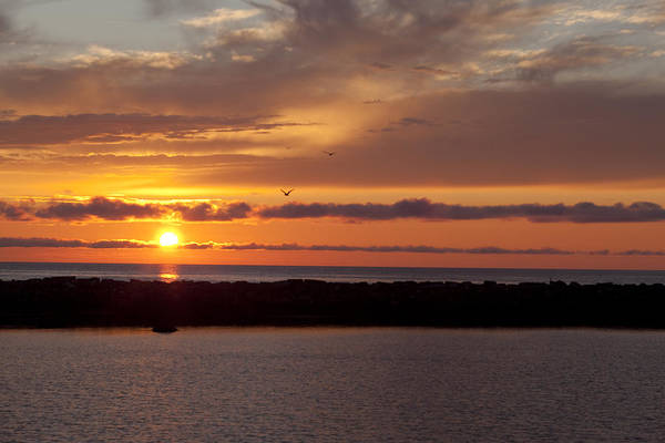 Gros Morne Photograph - Rocky Harbour Sunset by Eunice Gibb