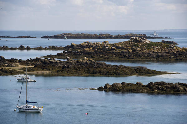 Photograph - Rocky Moorings Iles Chausey  by Gary Eason