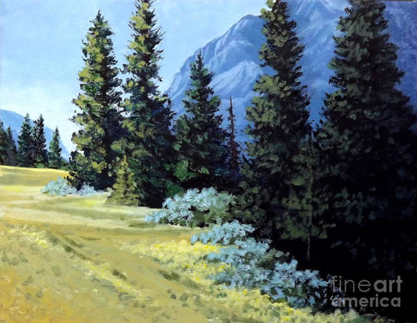 Painting - Rocky Mountain Meadow by Diane Ellingham