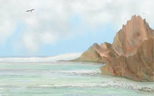 Digital Art - Rocky Seascape by Tony Rodriguez
