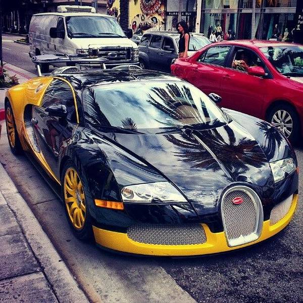 Bugatti Photograph - #rodeodrive #hollywood #losangeles by Robin O