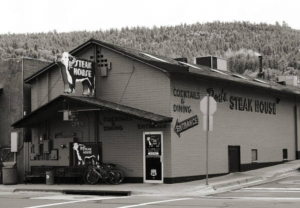 Street Rod Photograph - Rod's Steak House by Ricky Barnard