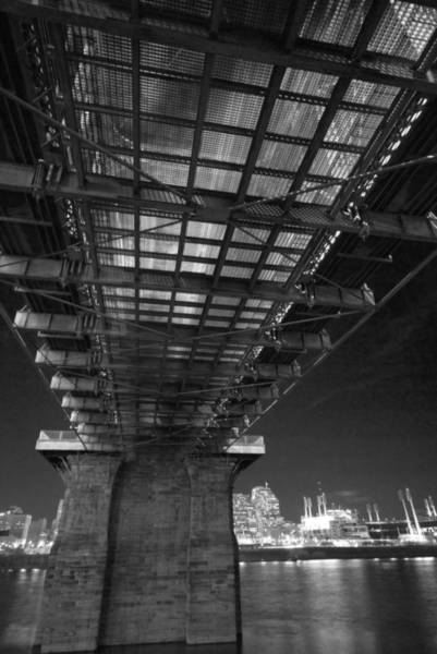 Photograph - Roebeling Bridge Black And White by Russell Todd