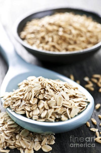 Flake Photograph - Rolled Oats And Oat Groats by Elena Elisseeva