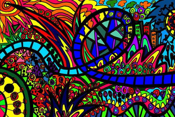 Wall Art - Digital Art - Roller Coaster by Karen Elzinga