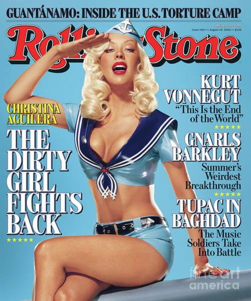 Wall Art - Photograph - Rolling Stone Cover - Volume #1007 - 8/24/2006 - Christina Aguilera by Matthew Rolston