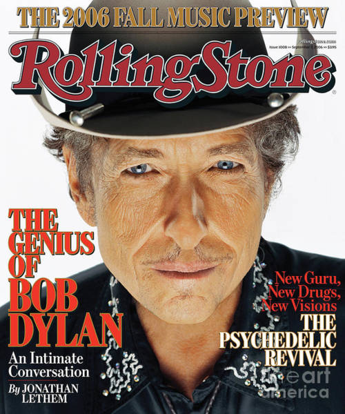 Wall Art - Photograph - Rolling Stone Cover - Volume #1008 - 9/7/2006 - Bob Dylan by Matthew Rolston
