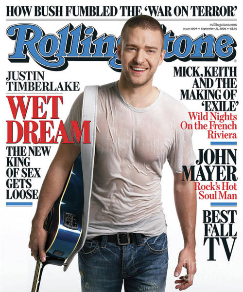 Wall Art - Photograph - Rolling Stone Cover - Volume #1009 - 9/21/2006 - Justin Timberlake by Max Vadukul