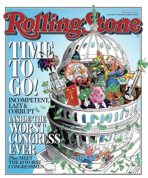 Wall Art - Photograph - Rolling Stone Cover - Volume #1012 - 11/2/2006 - Worst Congress by Robert Grossman