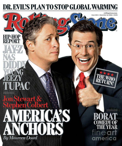 Wall Art - Photograph - Rolling Stone Cover - Volume #1013 - 11/16/2006 - Jon Stewart And Stephen Colbert by Robert Trachtenberg