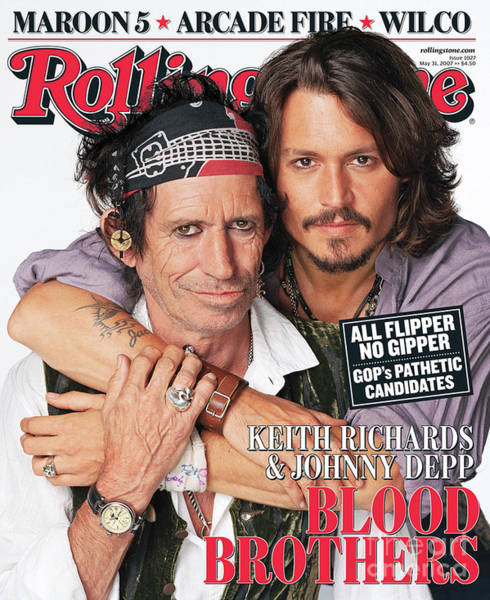 Wall Art - Photograph - Rolling Stone Cover - Volume #1027 - 5/31/2007 - Johnny Depp And Keith Richards by Matthew Rolston