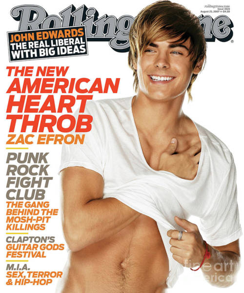 Wall Art - Photograph - Rolling Stone Cover - Volume #1033 - 8/23/2007 - Zac Efron by Matthew Rolston