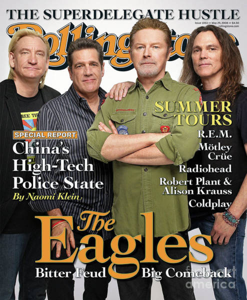 Wall Art - Photograph - Rolling Stone Cover - Volume #1053 - 5/29/2008 - The Eagles by Max Vadukul
