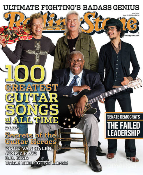Guitar Photograph - Rolling Stone Cover - Volume #1054 - 6/12/2008 - Guitar Gods by Max Vadukul
