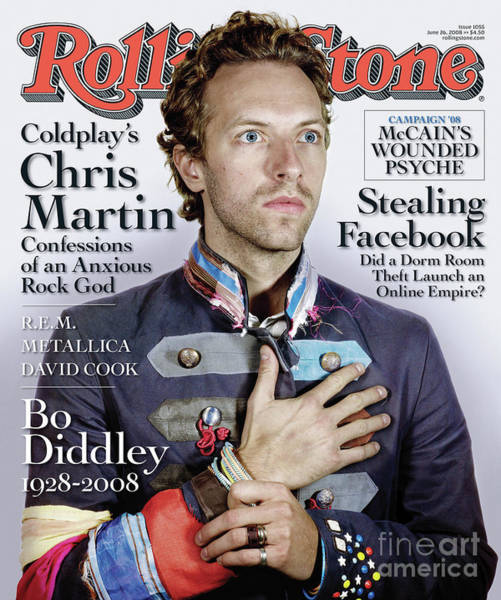 Wall Art - Photograph - Rolling Stone Cover - Volume #1055 - 6/26/2008 - Chris Martin by Nadav Kander