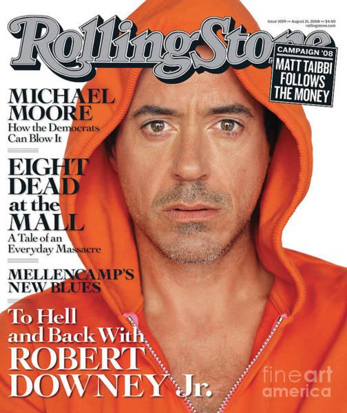 Wall Art - Photograph - Rolling Stone Cover - Volume #1059 - 8/21/2008 - Robert Downey Jr. by Sam Jones