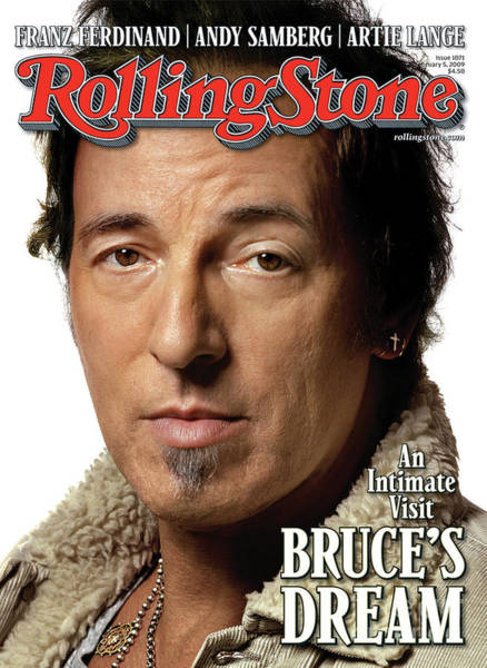 Musician Wall Art - Photograph - Rolling Stone Cover - Volume #1071 - 2/5/2009 - Bruce Springsteen by Albert Watson