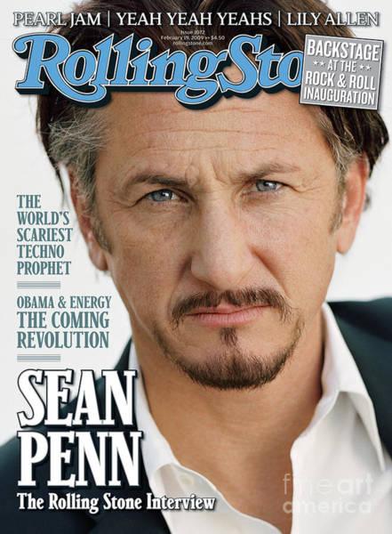 Wall Art - Photograph - Rolling Stone Cover - Volume #1072 - 2/19/2009 - Sean Penn by Sam Jones