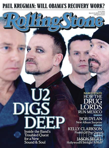U2 Photograph - Rolling Stone Cover - Volume #1074 - 3/19/2009 - U2 by Anton Corbijn