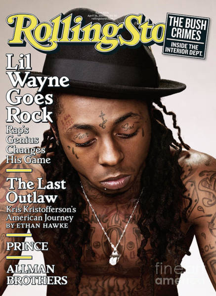 Wall Art - Photograph - Rolling Stone Cover - Volume #1076 - 4/16/2009 - Lil Wayne by Peter Yang