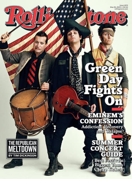 Wall Art - Photograph - Rolling Stone Cover - Volume #1079 - 5/28/2009 - Green Day by Sam Jones