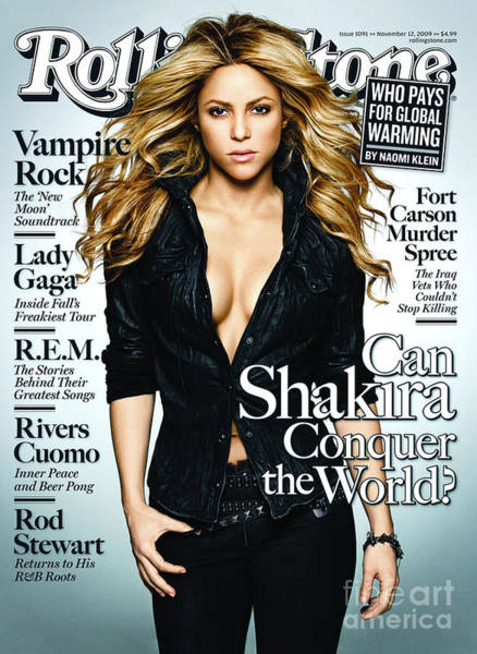 Wall Art - Photograph - Rolling Stone Cover - Volume #1091 - 11/12/2009 - Shakira by Max Vadukul