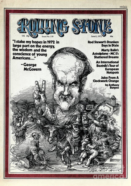George Photograph - Rolling Stone Cover - Volume #110 - 6/8/1972 - George Mcgovern by Edward Sorel