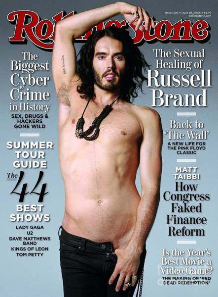Wall Art - Photograph - Rolling Stone Cover - Volume #1106 - 6/10/2010 - Russell Brand by Wenner Theo