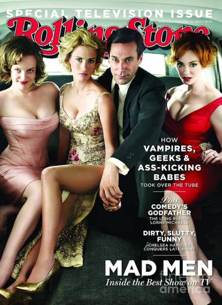 Cast Photograph - Rolling Stone Cover - Volume #1113 - 9/16/2010 - Cast Of Mad Men by Trachtenberg Robert