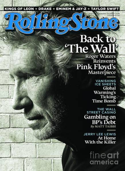 Wall Art - Photograph - Rolling Stone Cover - Volume #1114 - 9/30/2010 - Roger Waters by Watson Albert