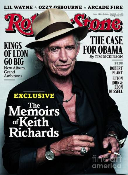 Richard Photograph - Rolling Stone Cover - Volume #1116 - 10/28/2010 - Keith Richards by Lindbergh Peter