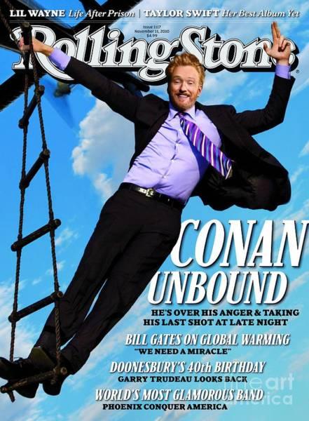 Wall Art - Photograph - Rolling Stone Cover - Volume #1117 - 11/11/2010 - Conan O'brien by Trachtenberg Robert