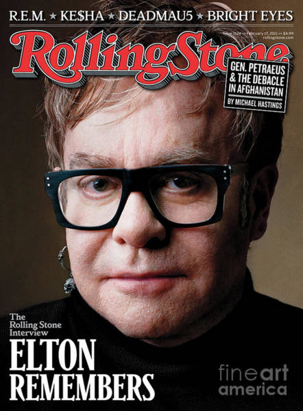 John Photograph - Rolling Stone Cover - Volume #1124 - 2/17/2011 - Elton John by Mark Seliger