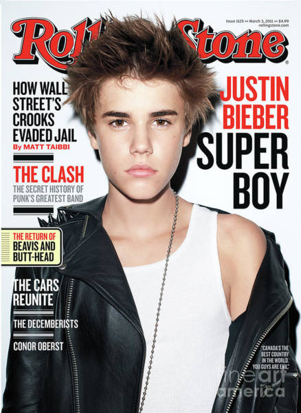 Wall Art - Photograph - Rolling Stone Cover - Volume #1125 - 3/3/2011 - Justin Bieber by Terry Richardson