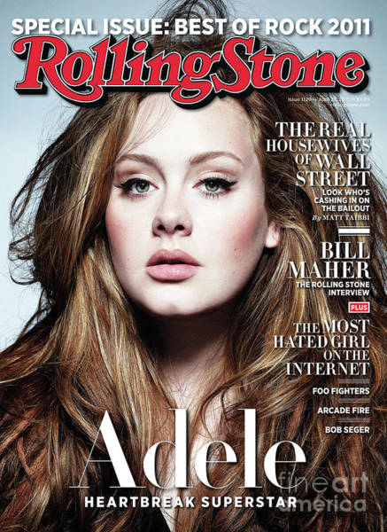 Wall Art - Photograph - Rolling Stone Cover - Volume #1129 - 4/28/2011 - Adele by Simon Emmett