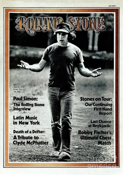Wall Art - Photograph - Rolling Stone Cover - Volume #113 - 7/20/1972 - Paul Simon by Peter Simon